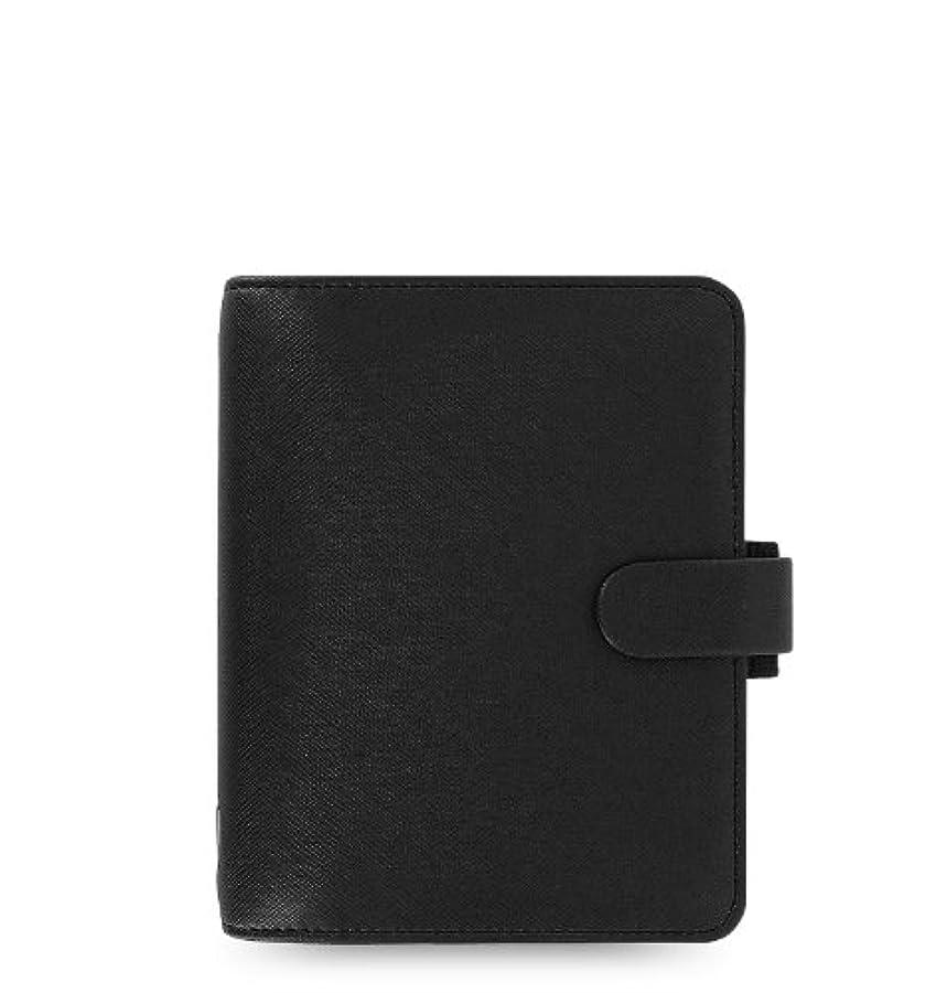 不透明なゴミ常習者サフィアーノ Saffiano スモール(ミニ6穴) Black システム手帳 ファイロファックス【並行輸入品】