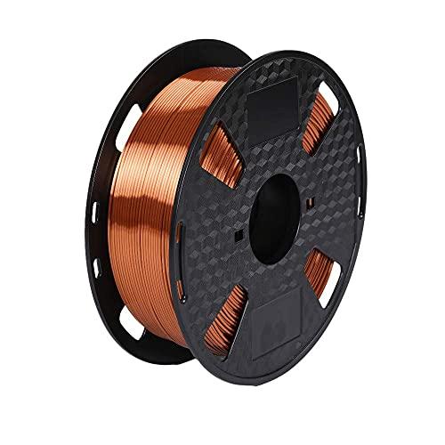 Marchio Amazon - Filamento per stampante 3D Eono- Metallo lucido rame seta -1,75 mm- Bobina da 1 kg da 2,2 libbre