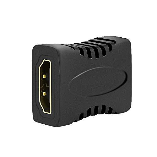 JBSTK 3X HDMI auf HDMI Kupplung Adapter/HDMI-Buchse auf HDMI-Buchse Verlängerung | VERGOLDETE Kontakte | 1080p Full HD | Schwarz