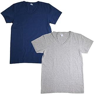 (ベルバシーン) Velva Sheen 160921 半袖 V首 VネックTシャツ ポケット無 2枚組 全10パターン