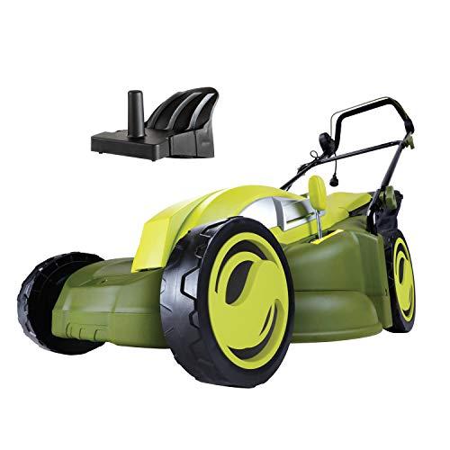 mulcher mowers Sun Joe MJ403E 17-Inch 13-Amp Electric Lawn Mower/Mulcher, 7-Position Adjustment, 12-Gallon Detachable Grass Collection Bag, Lightweight, Standard, Green