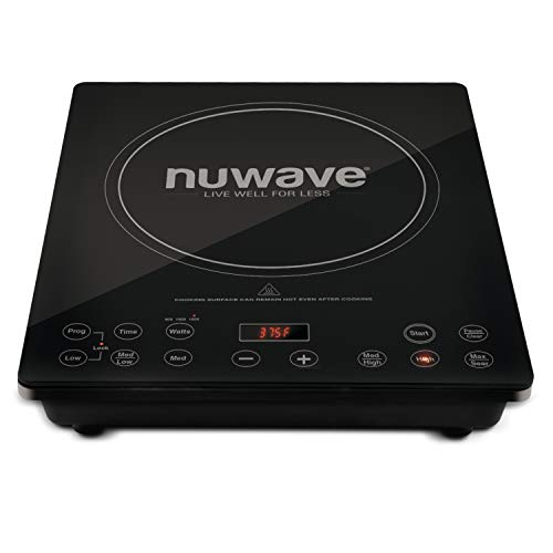 NuWave Precision Induction Cooktop (PIC) Pro Chef Commercial-Grade NSF-Certified 1800-watt Induction Cooktop With Automatic Shutoff, Programmable Stage Cooking Capabilities, Delay Feature & Temperature Range Between 100°F and 575°F