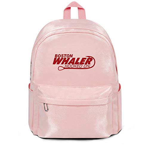 Best Nylon Backpack for Men's/Women's Boston-Whaler-logo-reds-pink Washable & Eco-Friendly Business Laptop Bag