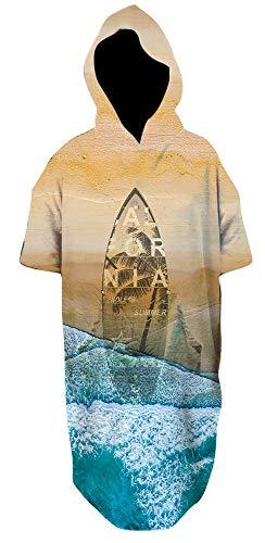 Fratelli Surf Poncho, Kitesurf Poncho, Surf Poncho, Hooded Towel, Surf Hoodie, Swim Parka, Surf,Kitesurf, Kitesurf Poncho, Printed Beach Poncho, Wave Poncho