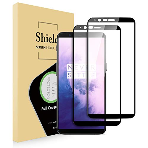 Bonslan Protectores de Pantalla OnePlus 5T (x2), Cristal Templado OnePlus 5T,[Respuesta Sensible][Instalación sin Burbujas] Vidrio Templado Protección Completa de la Pantalla OnePlus 5T (Negro)