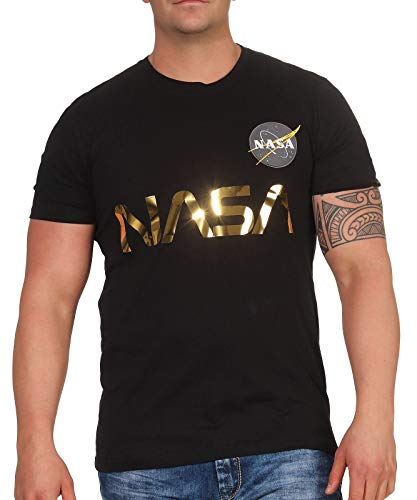 ALPHA INDUSTRIES 17850103-black-2 XL T-Shirt, Black, M Homme