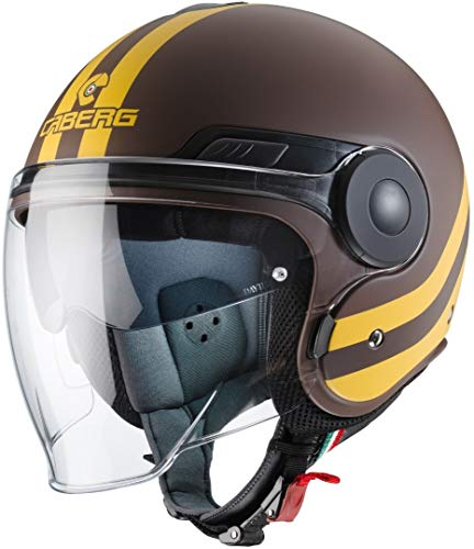 Caberg Herren Schuhe | Uptown Chrono Motorradhelm, matt braun/gelb, S