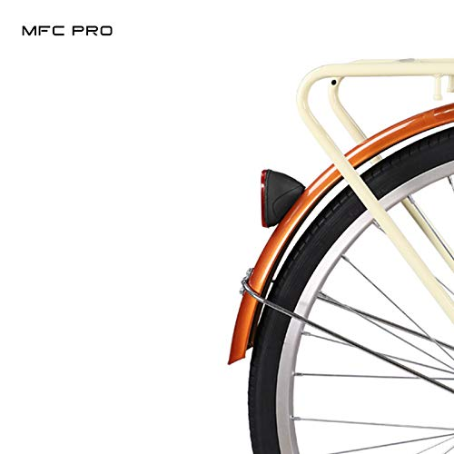 MFC PRO Red Oval Rear Bicycle Mudguard Fender Cycling Safety Warning Reflector (Red)