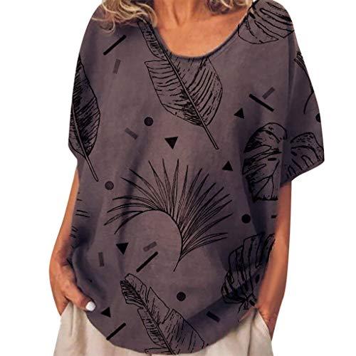 Buy Bargain Goddessvan 2019 Womens V Neck Wrap Tops Short Sleeve Print Loose Fitting Blouses Shirts ...