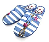Alcalde/Zapatilla de Estar por Casa Destalonada Mujer/Chinela Señora Confortable/Chanclas Bonitas de Cama para Chicas/Terpel/Descalza/Pantufla (Azul, Numeric_38)