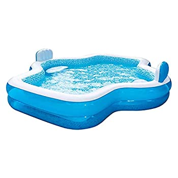 Members Mark Elegant Family Pool 10 Feet Long 2 Inflatable Seats with Backrests New Version
