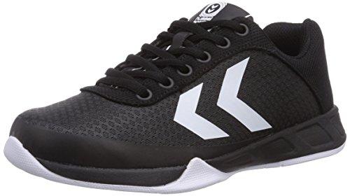 Hummel HUMMEL ROOT PLAY - Zapatillas deportivas para interior de material sintético Unisex adulto, negro - negro, 44.5
