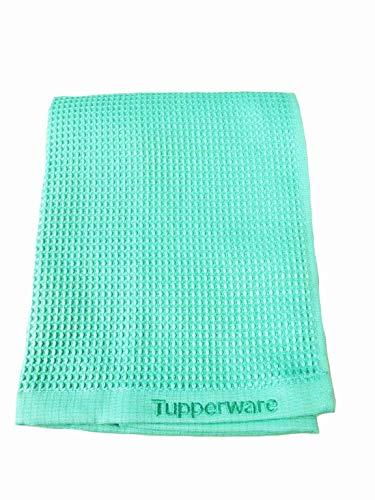 TUPPERWARE FaserPro Glas helles türkis T22 Fenster Mikrofasertuch Glastuch