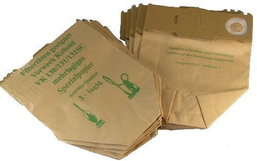 10 Staubsaugerbeutel geeignet für Vorwerk Kobold 130, 131 und SC-Modelle