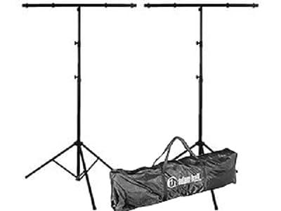 2 x Lighting Stand High Quality T-Bar 20KG & Adam Hall SLTS Transport Bag Bundle