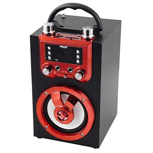 Altavoz portátil Bluetooth y función Karaoke. Incluye micrófono, Control Remoto y Adaptador de Carga USB. GO-ROCK GR-WSK140. Disponible en 4 Combinaciones de Color. (Azul)