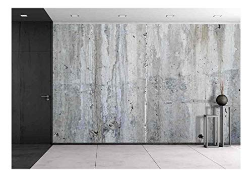 wall26 - Grunge Concrete Wall, High Resolution Background Texture Image - Removable Wall Mural | Self-Adhesive Large Wallpaper - 100x144 inches