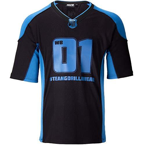 GORILLA WEAR Athlete T-Shirt 2.0 William Bonac - atmungsaktive leichtes bequemes Oberteil mit Logo zum Sport joggen Laufen Alltag Workout Training aus Polyester ansprechende Passform, XL
