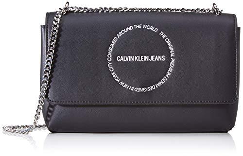Calvin Klein Sculpted Convertible Ew Flap - Borse a tracolla Donna,...