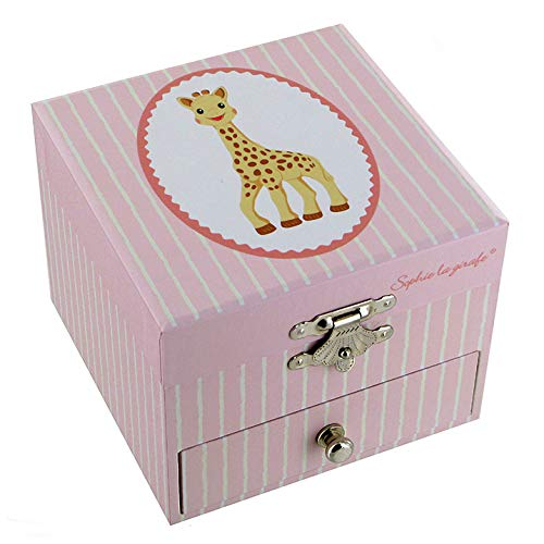 Lutèce Créations - Caja musical de madera/caja musical para joyas trousselier con Sophie la jirafa (Ref: 20-163) – La vida en rosa (Louiguy/Edith Piaf)