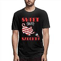 Sweet But Naughty メンズ 綿 半袖 Tシャツ 夏服 シンプル オリジナル ファッション トップス Sから6xlまで 3色展開