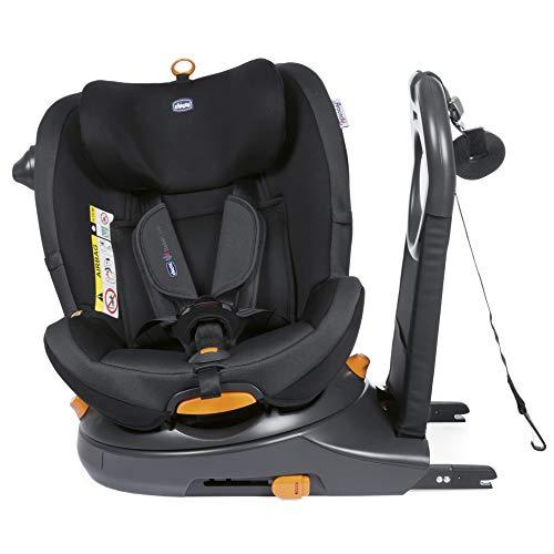Chicco 8079189510000 Around U i-size Sillas de Auto con Sistem de Rotación 360, 0 Meses +, Negro (Jet Black)