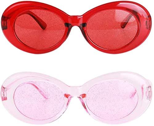 hsj LF- Toy 2 / Transparent Rot Rosa Clout Skibrillen Sonnenbrillen packen Lernen