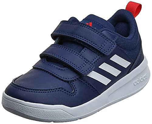 adidas Tensaur C, Unisex-Kids Running Shoes, Dark Blue FTWR White Active Red, 12.5 UK Child