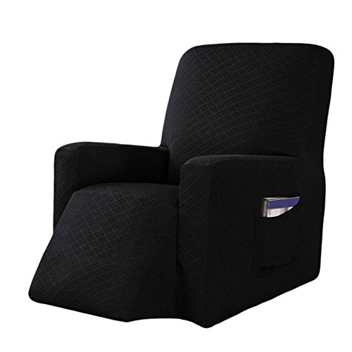 HALOUK Non Slip Recliner Sofa Cover,1 Piece Soft Thick Solid Color Stretch Sofa Slipcover Furniture Protector Machine Washable Anti-Scratch for Pet Kids-H