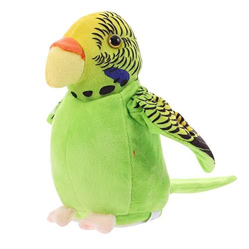 Tomaibaby Loro Parlante de Peluche de Juguete Repite Lo Que Usted Dice Animal de Peluche de Juguete Interactivo de Peluche de Juguete de Cumpleaños para Niños Verde