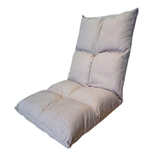 ZYLE Lazy Couch Tatami Bean Bag Tela Individual Sofá Dormitorio Bahía Ventana Silla cómoda 110 × 54 × 14cm