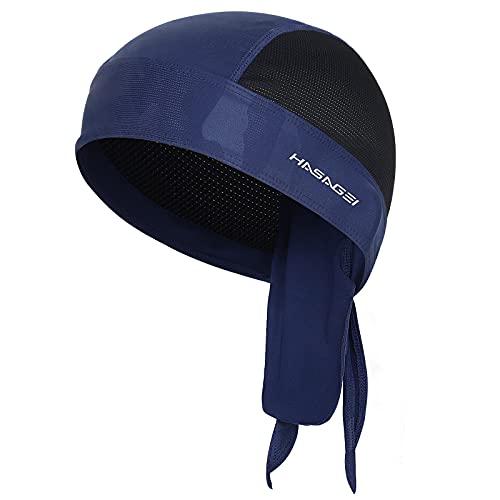 HASAGEI Sports Bandana Cap Herrem Damen Kopftuch Biker Bandanas Quick Dry Sommermütze Elastizität Atmungsaktiv Schweißableitender Outdoor Hat Radfahren Motorrad Kopfbedeckung