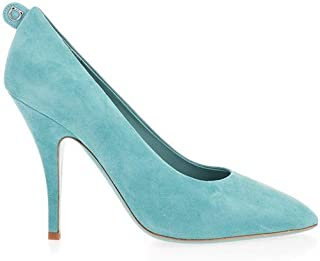 SALVATORE FERRAGAMO Luxury Fashion Womens 01Q8617 Light Blue Pumps | Spring Summer 20
