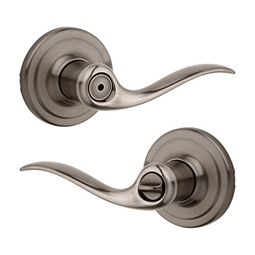 Tustin Bed/Bath Lever with Microban Antimicrobial Protection in Antique Nickel