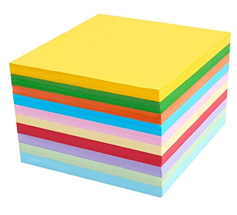 VNDEFUL 100 Sheets A4 Multicolor Card Cardboard Colorful Origami Paper,Creative Art Paper DIY Craft Handicraft