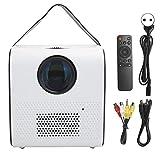 PUSOKEI Mini proyector inalámbrico, proyector de películas, proyector de Audio/Video con Altavoz Bluetooth portátil HD, Soporte 1080P 4K, para Cine en casa/Cine de Oficina(EU)
