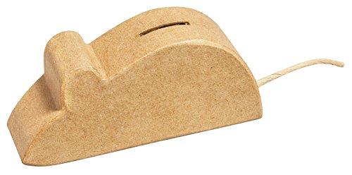 Rayher 67145000 Pappm. Spardose Maus, FSC Recycled 100%, 15x6,5x4,5cm
