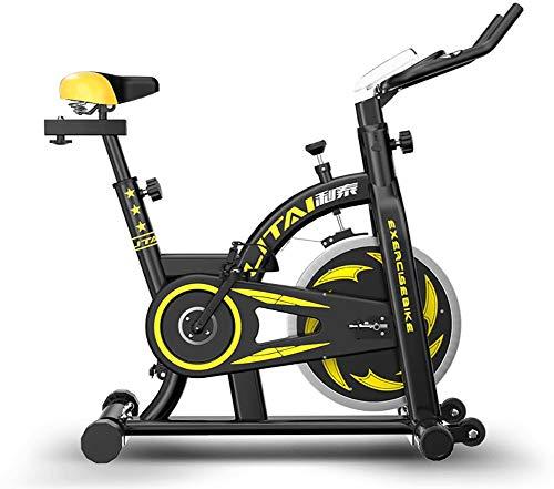 HSJSY Sports Cyclette Aerobica da Spinning Allenamento - Indoor Fitness Cardio Spin Bike - Freno Silenzioso, Magnetoresistenza Continua, Sedile Regolabile, 8KG Volano, Carico 150Kg