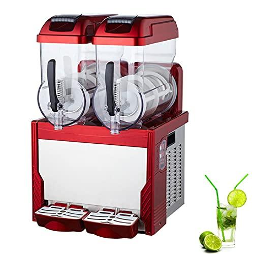 JFF 30L Commercial Slushy Machine Ice Slush Machine Stainless Steel Margarita Frozen Drink Machine with Powerful Compressor Efficient Cooling