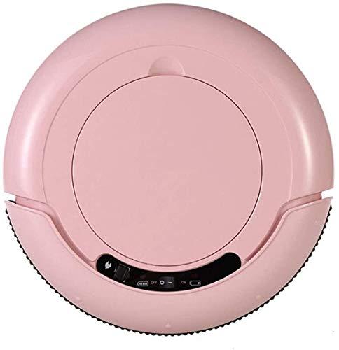 KQBAM Aspirador Robótico Aspirador De Alto Rendimiento Inteligente Y Ultrafino 1200 Pa con Función De Limpieza Y Aspiración Tiempo De Funcionamiento 110 Minutos (Silencio), Rosa