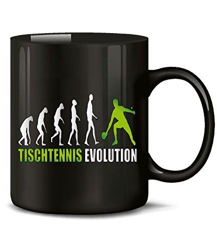 Golebros Tischtennis Evolution Sport 547 Geburtstag Geschenk Fun Tasse Becher Kaffeetasse Kaffeebecher Schwarz-Grün