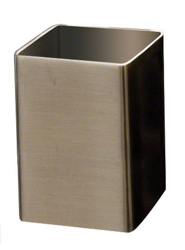 """American Metalcraft SSPT5 Stainless Steel Square Sugar Cube Holder, 2"""" Sq., Satin Finish"""