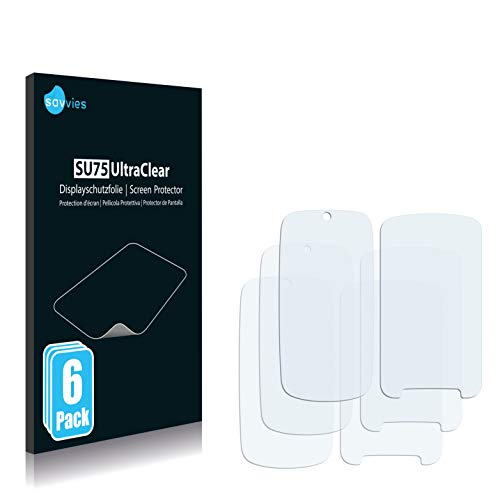savvies 6-Pezzi Pellicola Protettiva Compatibile con Motorola Gleam Plus Protezione Schermo Trasparente