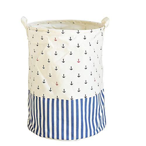 JOMSK Cesta de lavandería Grande para Dormitorio Algodón Tela de Lino Gran Abertura de Color Sucio Ropa Cubo Plegable casa for Guardar Cubo (Color : Multi-Colored, Size : One Size)