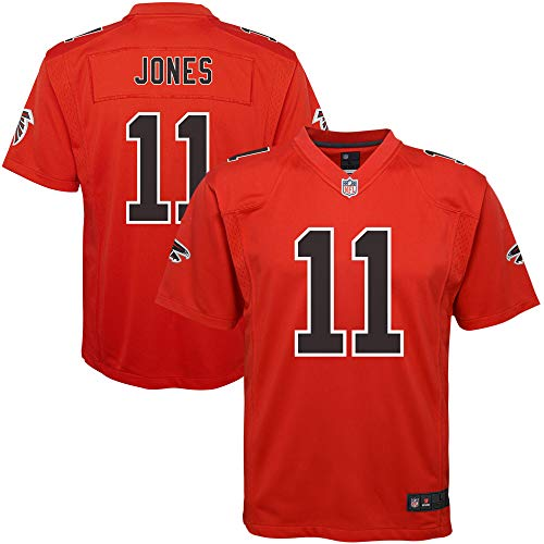 NFL Youth 8-20 Color Rush Alternate Color Game Day Player Jersey (Julio Jones Atlanta Falcons Red Color Rush, 18-20)