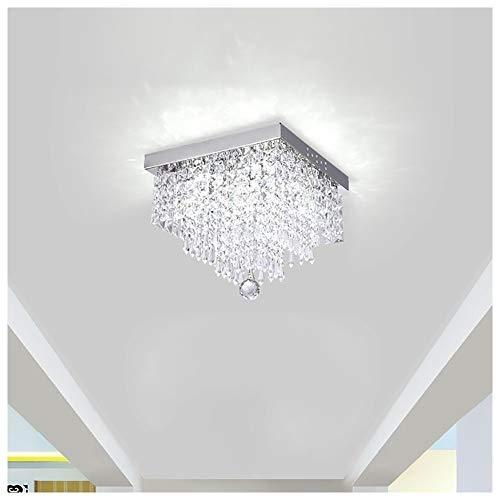 Lámparas de araña Prima moderna elegante rectángulo de techo colgante de luz accesorio de iluminación araña de cristal Dormitorio Sala de estar moderna lámpara de Pasillo, (Ø20cm / Ø25cm / Ø30cm)