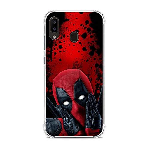 Shockproof Thin Protective Clear Soft Liquid TPU Case Cover for Samsung Galaxy A10e/A20e-Deadpool-Marvel 7