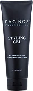 Pacinos Original Styling Gel, Medium Shine All Day Hold for All Hair Types, Conditions and Moisturizes Hair while add Volume and Texture, No Dry Flakes or Residue, 8 oz