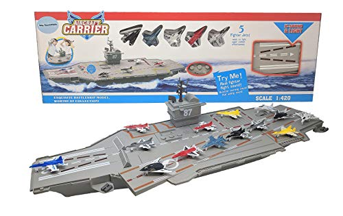 30 Inch Aircraft Carrier with Sound Effects and Light Up Runway (14...
