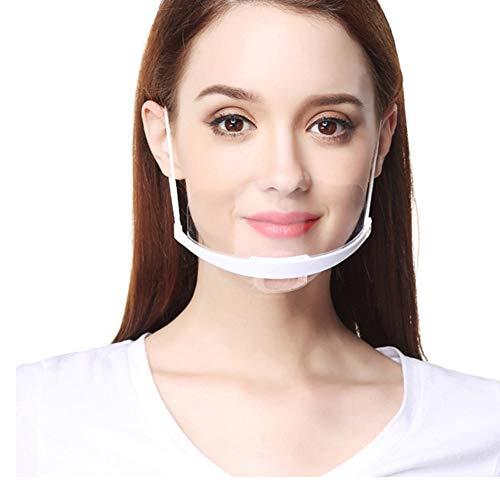 FEOYA 10 Stück Gesichtsschutzschild Kunststoff Visier Anti-Splash Transparent Schutzvisier Hygiene Schutzschirm für Restaurant Küche Gastronomie